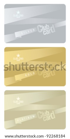 Club plastic cards design template.