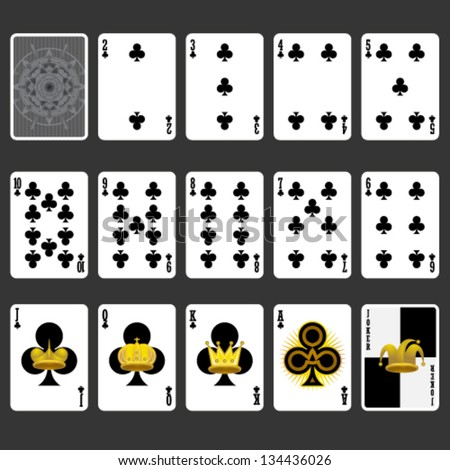 Club Suit Playing Cards Full Set
