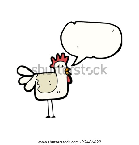clucking chicken cartoon