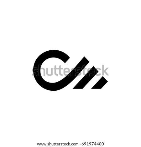 cm letter logo. dm letter logo Stock fotó ©