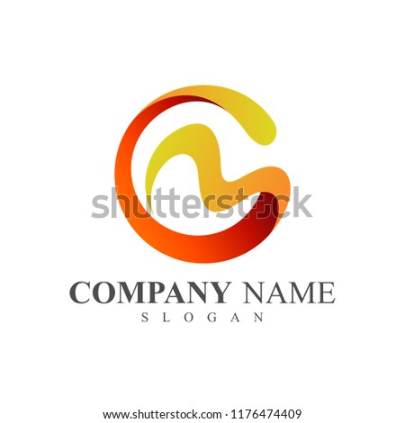 CM logo, MC logo, letter c and letter m logo design