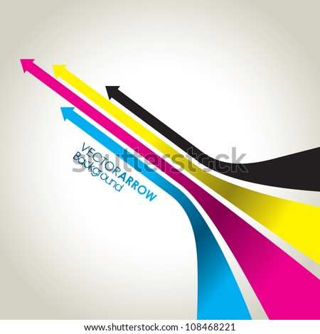 cmyk abstract arrow background - stock vector