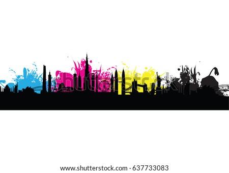 cmyk building cityscape