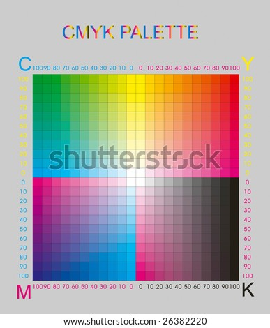 cmyk color palette on grey