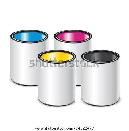 CMYK paint. Print vector icon concept.