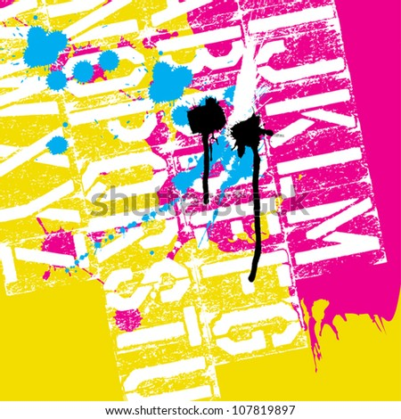 CMYK Print concept background, vector, EPS8
