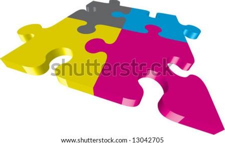 CMYK vector-puzzle