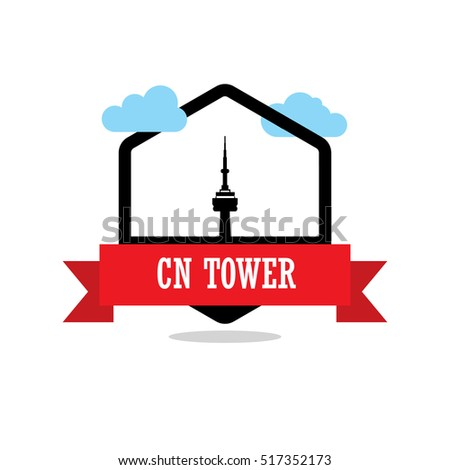 cn tower ribbon banner with