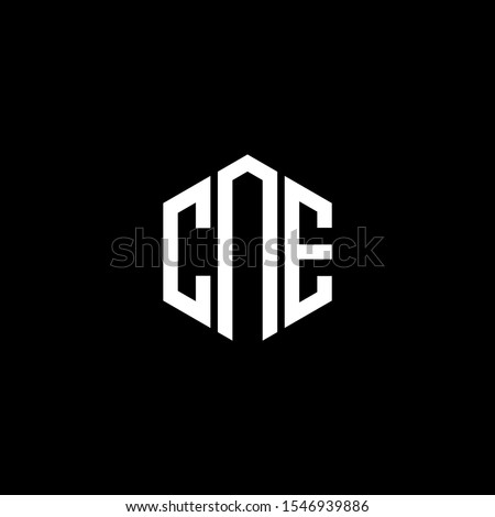 CNE Letter Logo Design polygon Monogram Icon Vector Template