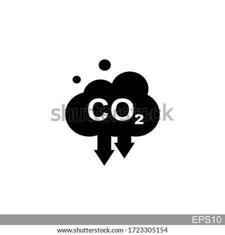 co2, carbon dioxide emissions icon on white background.vector illustration Foto stock ©