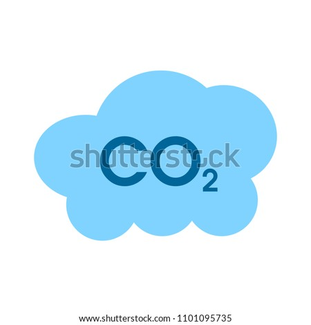 Co2 cloud icon - natural ecology, clean environment sign - eco