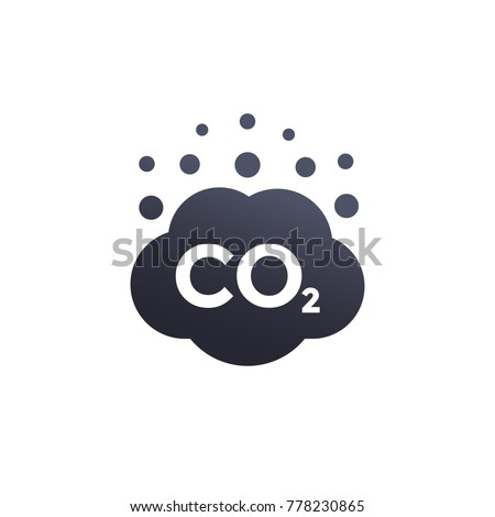co2 emissions vector icon Stock photo ©