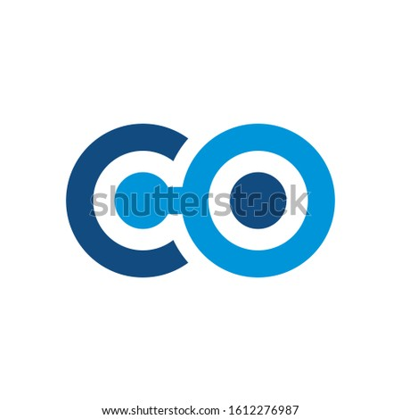 CO Logo can be used for company, icon, and others. Foto stock ©