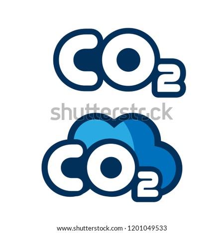 Co2 logo design.Co2 icon.cartoon style