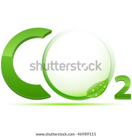 CO2 sign vector illustration