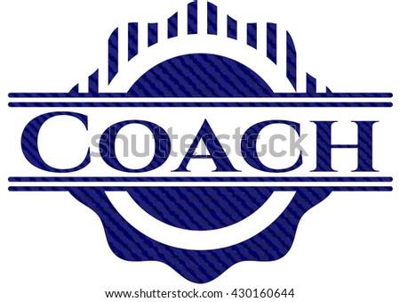 Coach badge with denim texture