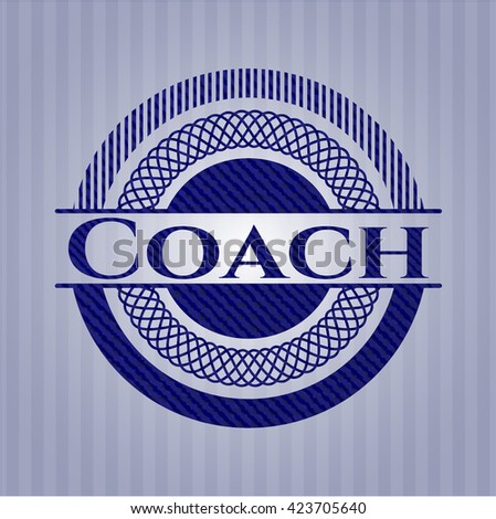 Coach badge with jean texture