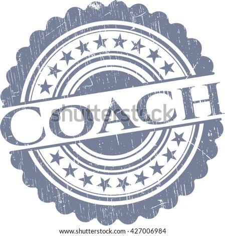 Coach grunge style stamp