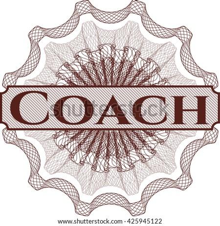 Coach money style rosette