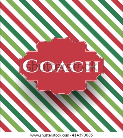 Coach poster or banner