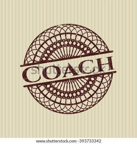 Coach rubber grunge texture seal