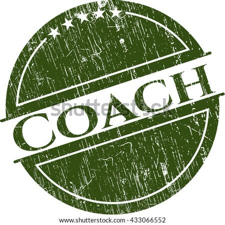 Coach rubber grunge texture stamp