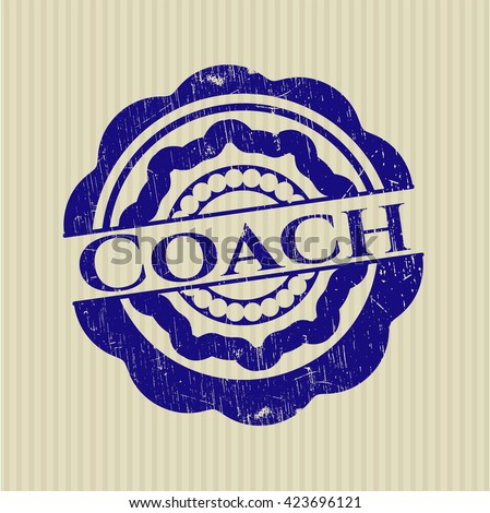 Coach rubber seal with grunge texture