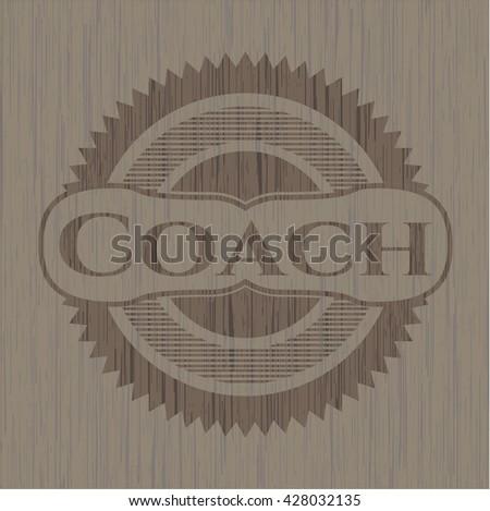Coach vintage wood emblem