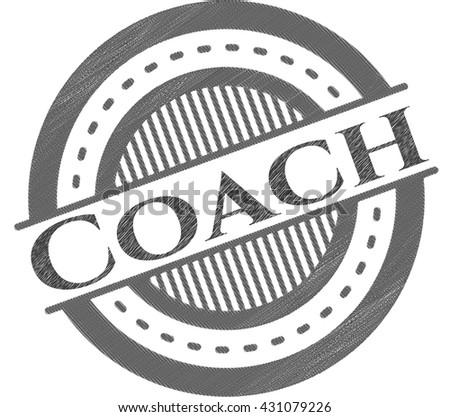 Coach with pencil strokes