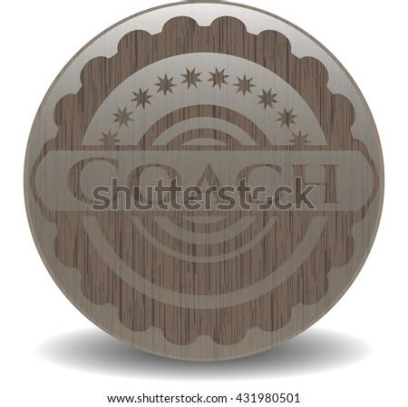 Coach wooden emblem. Retro
