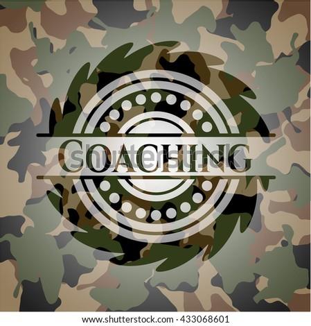 Coaching camouflaged emblem