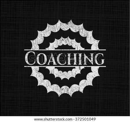 Coaching chalk emblem