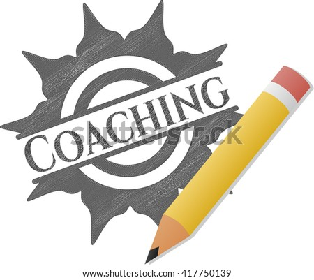 Coaching drawn in pencil