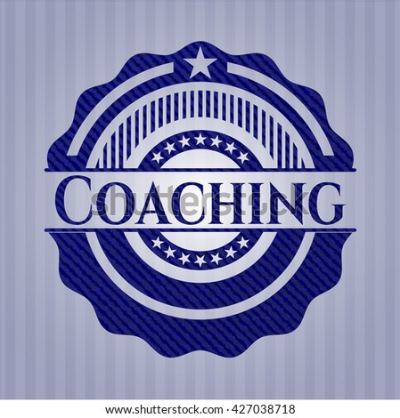 Coaching emblem with jean high quality background