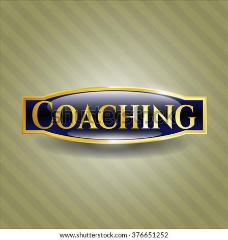 Coaching gold shiny badge