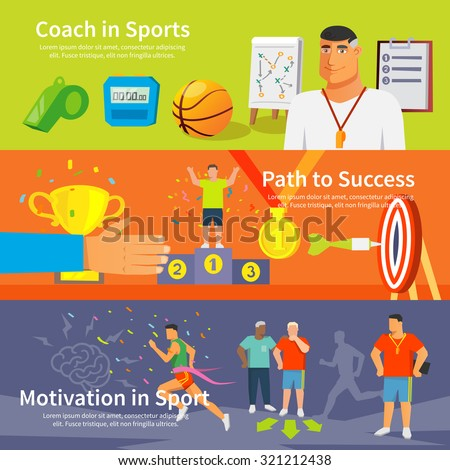coaching horizontal banner set