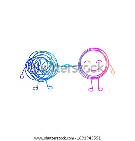 Coaching, mentoring, problem solving, abstract icon business problem solving, consulting. Vector illustration