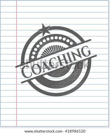Coaching pencil draw