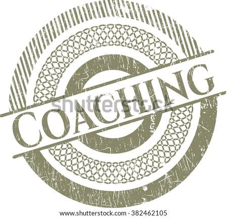 Coaching rubber grunge texture seal