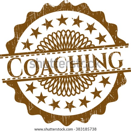 Coaching rubber seal with grunge texture