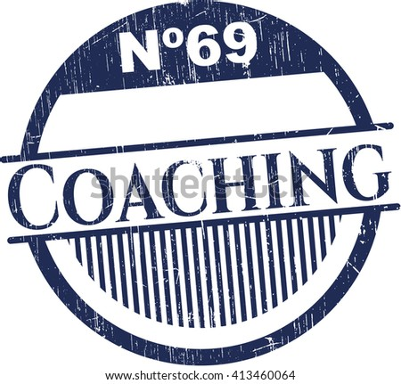 Coaching rubber stamp with grunge texture