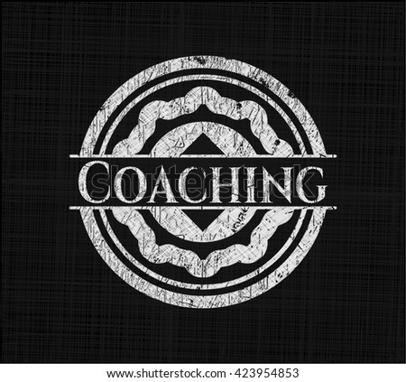 Coaching with chalkboard texture