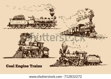 Coal Engine Train sketch