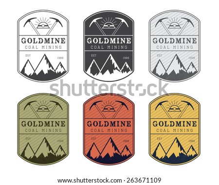 coal mining logo badge in...