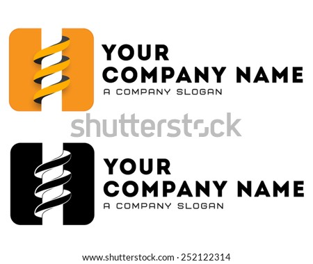 Coal-plow, mining business, bore logo, drilling business, vector logo template