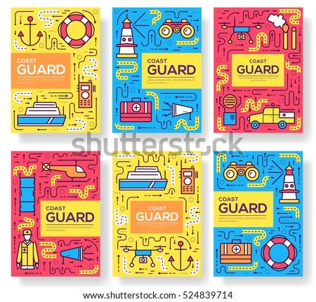 coast guard vector brochure