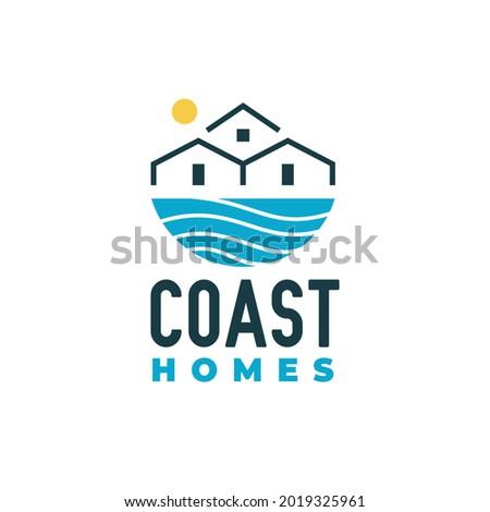 coast homes logo design  wave