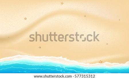 coast of sea  ocean with yellow