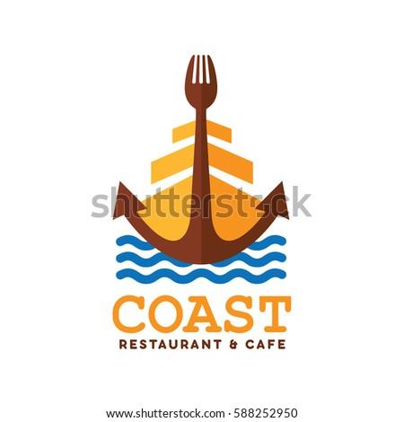 coast restaurant and cafe logo