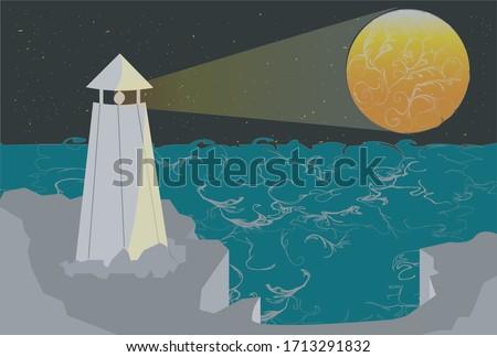 coastal lighthouse shining